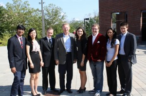Bob Holster with the 2011 Holster Scholars
